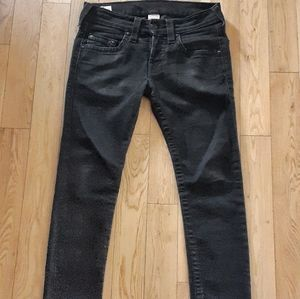 Other - True Religion Rocco Dark Tar Relaxed Skinny Jeans